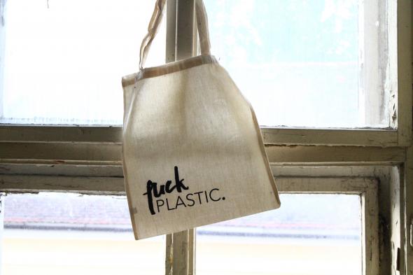 Eko taška FUCK PLASTIC