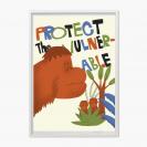 PLAKÁT - PROTECT VULNERABLE - ORANGUTANI