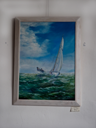 Oil painting Sailboat