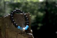 Léčivý náramek z Bali - Modrý